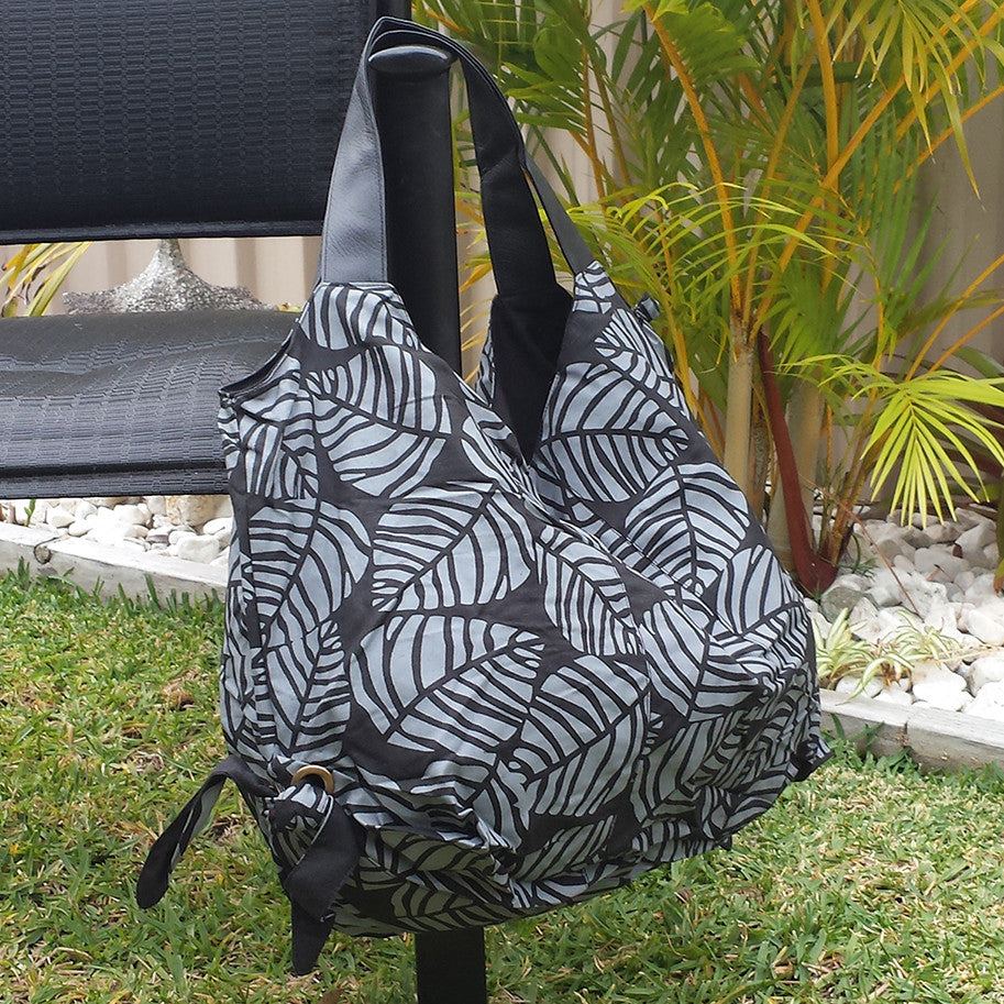 Bold Leaf Cotton Shoulder Bag Bags and Purses Kravan House - Penh Lane