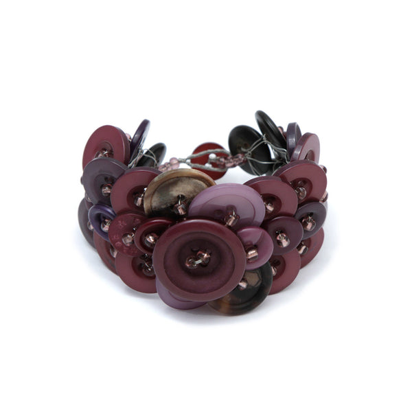 Recycled Button Bracelet Bracelets Khmer Creations