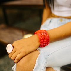 Recycled Button Cuff Bracelets Khmer Creations Jewellery - Penh Lane