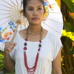 Cherry Blossom Necklace Necklaces Khmer Creations Jewellery - Penh Lane
