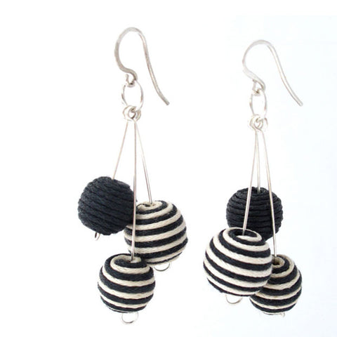Cotton Bead Earrings - Khmer Creations