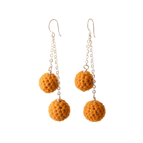 Crochet Chain Drop Earrings
