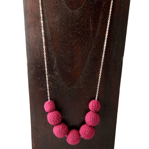 Crochet Drop Necklace Necklaces Khmer Creations Jewellery - Penh Lane