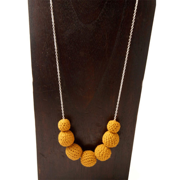 Crochet Drop Necklace Necklaces Khmer Creations