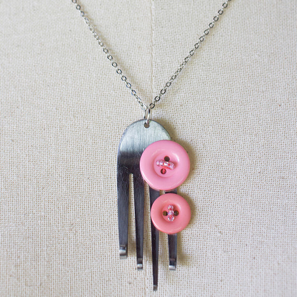 Funky Fork Pendant Necklace Necklaces Khmer Creations