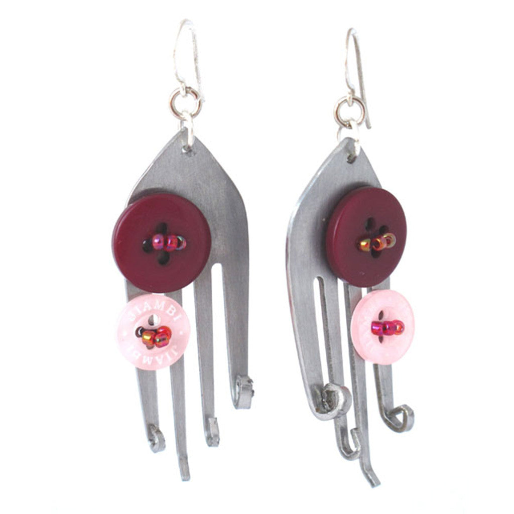 Funky Fork Earrings Earrings Khmer Creations Jewellery - Penh Lane
