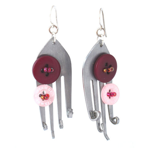 Funky Fork Earrings - Khmer Creations