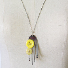 Funky Fork Pendant Necklace Necklaces Khmer Creations Jewellery - Penh Lane