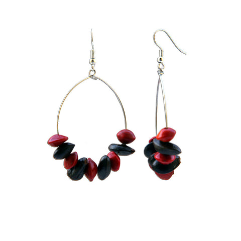 Diup and Love Seed Hoop Earrings