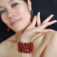 Diup and Love Seed Hoop Earrings Earrings Khmer Creations Jewellery - Penh Lane