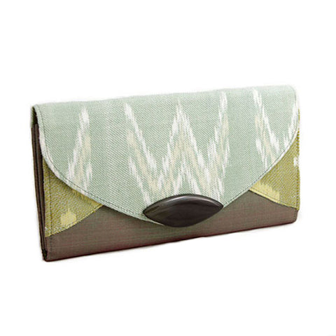 Cotton and Silk Ikat Clutch Purse