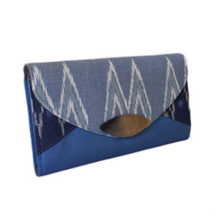 Cotton and Silk Ikat Clutch Purse Bags and Purses Watthan Artisans - Penh Lane