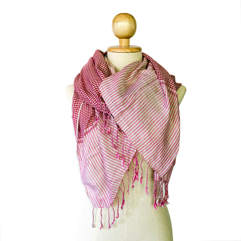 Cotton Krama Scarf Accessories Watthan Artisans - Penh Lane