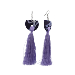 Purple - Polymer Clay Earrings - Khmer Creations