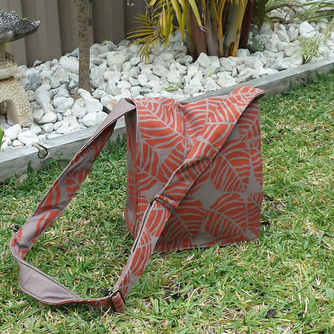 Bold Leaf Cotton Messenger Bag