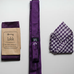 Lohk Handmade Silk Skinny Tie and Pocket Square Men's Accessories Khmer Creations Studio - Penh Lane