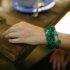 Samnang Button Cuff Bracelets Khmer Creations Jewellery - Penh Lane