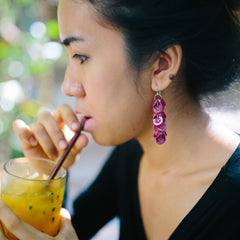 Samnang Button Earrings Earrings Khmer Creations Jewellery - Penh Lane