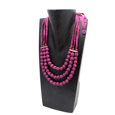 Srey Silk Treble Necklace Necklaces Khmer Creations