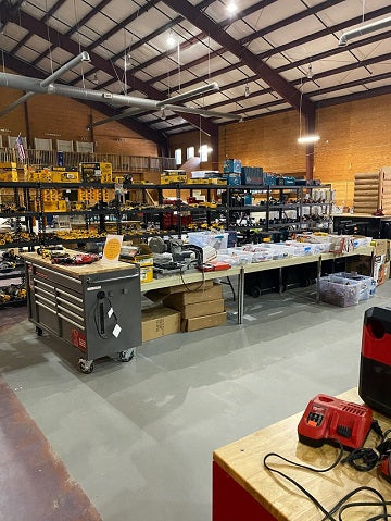 The inside of our tool store in the Atlanta area.