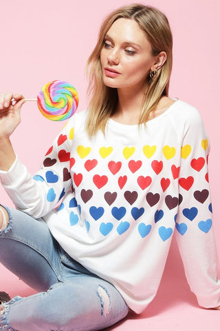 Rainbow Hearts Top