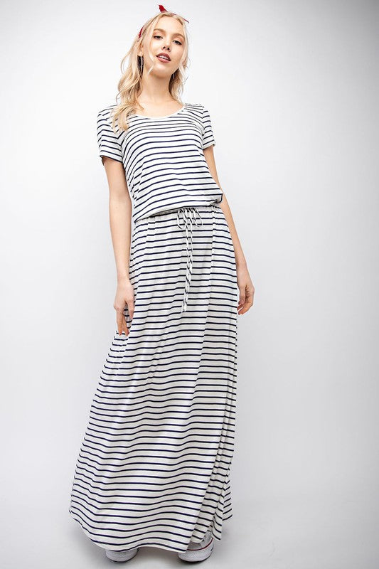 Georgia Striped Maxi Dress