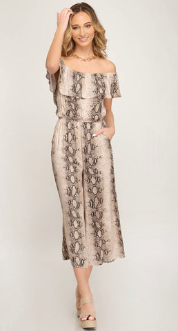 Kate Snakeskin Printed Jumpsuit