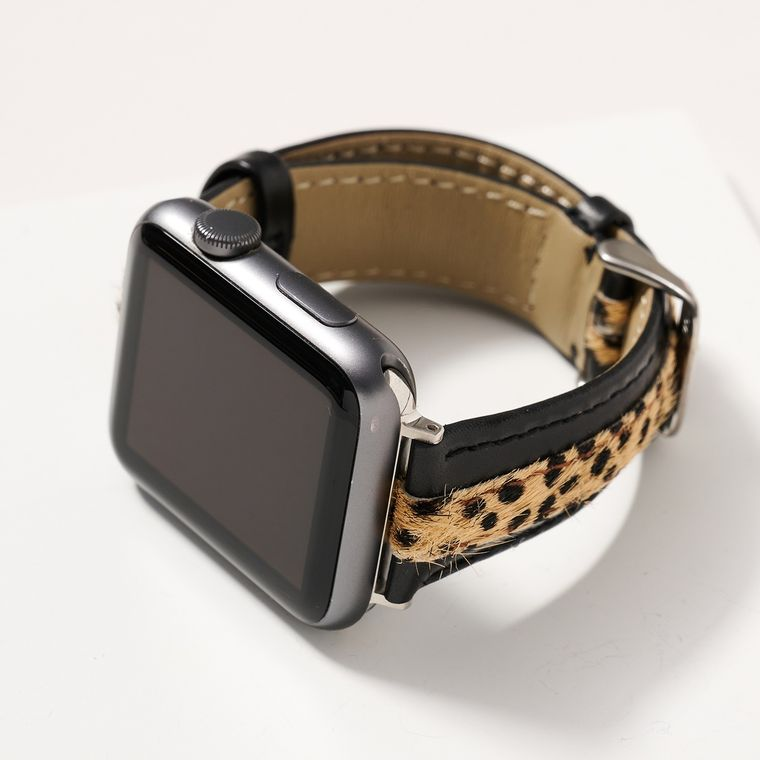 Silicone and Leopard Print Watch Band