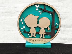 Precious Vignette - Fall in love with you sign