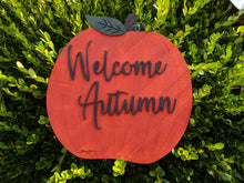Load image into Gallery viewer, Rustic Pumpkin Welcome Sign