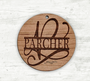 Engraved Name Wood Ornament