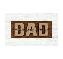 Load image into Gallery viewer, Father's Day Shelf or Desk Sitter Sign