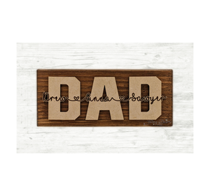 Father's Day Shelf or Desk Sitter Sign