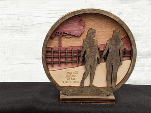 Couple Walking Together - Anniversary - Valentine's - Engagement Gift