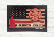 Load image into Gallery viewer, Firefighter Flag with Maltese Cross