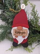 Load image into Gallery viewer, Gnome Christmas Ornament - Holding Custom Sign