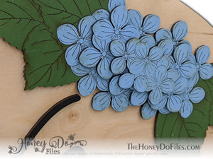 Round Hydrangea Welcome Sign