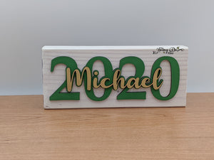2021 Graduation Desk/Shelf Sitter Sign