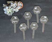 Load image into Gallery viewer, Bee-Inspired Garden Stakes - Set of 6