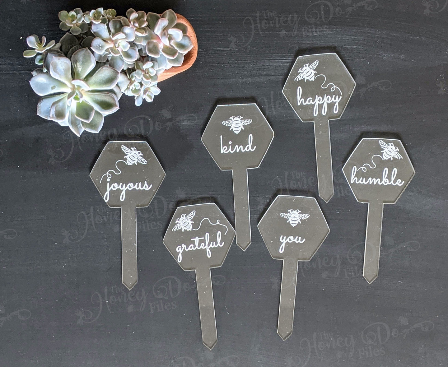 Bee-Inspired Garden Stakes - Set of 6