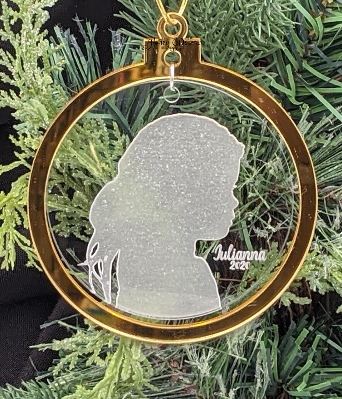 Engraved Silhouette Ornament