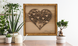 Framed Family Tree Art