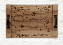Load image into Gallery viewer, Santa Tray With Your Kids Signatures!