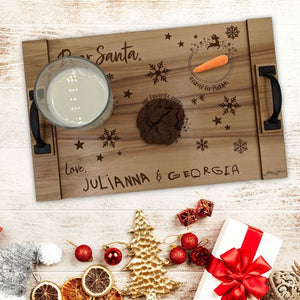 Santa Tray With Your Kids Signatures!