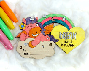 DIY Unicorn Valentine Cards - 5 pack