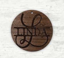 Load image into Gallery viewer, Engraved Name Wood Ornament
