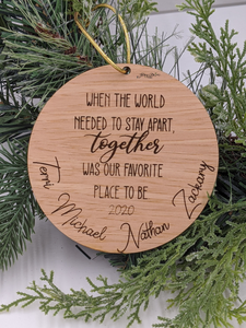 Engraved 2020 Sentimental Family Ornament