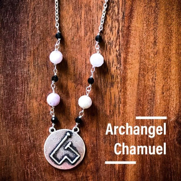 Angel Intention Medallions - Angel Chatter - Christine Alexandria - Chamuel, Angel of Self Love, Rose Quartz