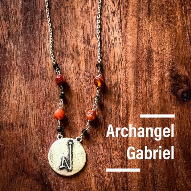 Angel Intention Medallions - Angel Chatter - Christine Alexandria - Gabriel - Carnelian