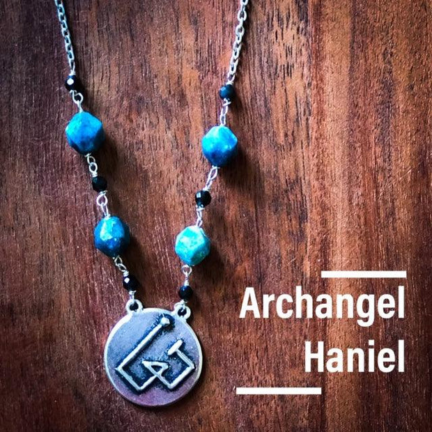 Angel Intention Medallions - Angel Chatter - Christine Alexandria - Haniel - Turquouise